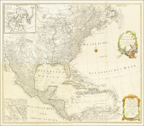 88-North America Map By Franz Anton Schraembl