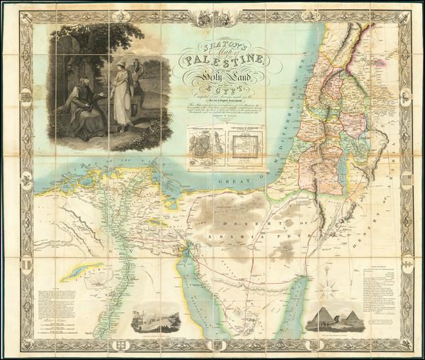23-Holy Land Map By Robert Seaton