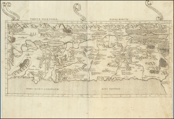 4-Holy Land Map By Claudius Ptolemy