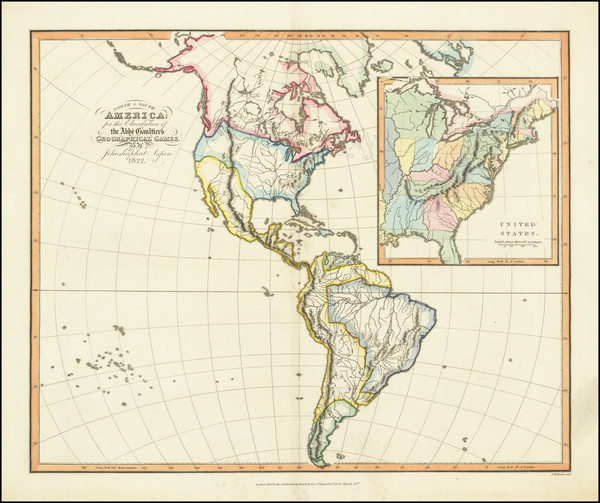 14-United States, North America, South America and America Map By Jehoshaphat Aspin