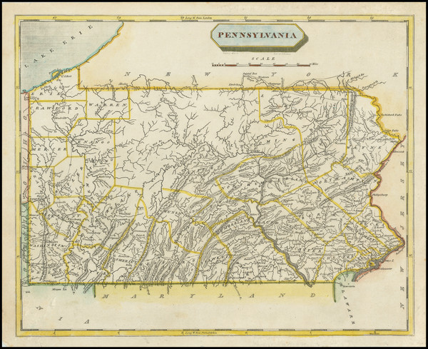 80-Pennsylvania Map By Aaron Arrowsmith  &  Lewis