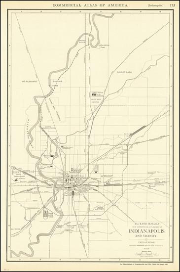 24-Indiana Map By Rand McNally & Company