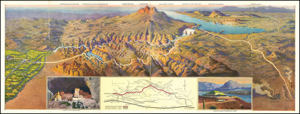 21-Arizona and Pictorial Maps Map By Southern Pacific Railroad Company