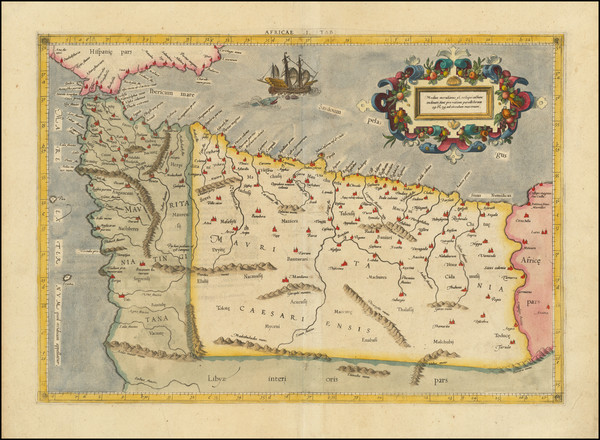 22-North Africa Map By  Gerard Mercator
