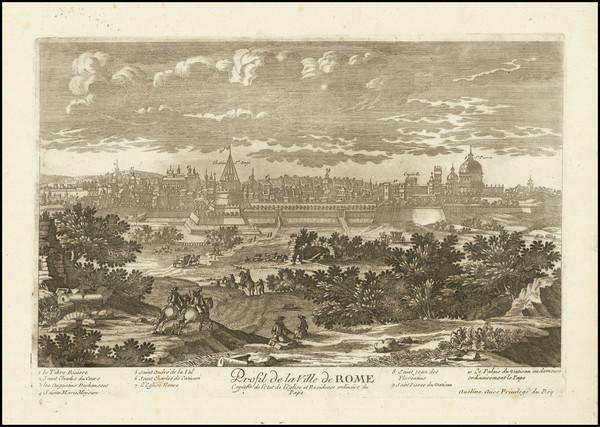 63-Rome Map By Pierre Alexander Aveline