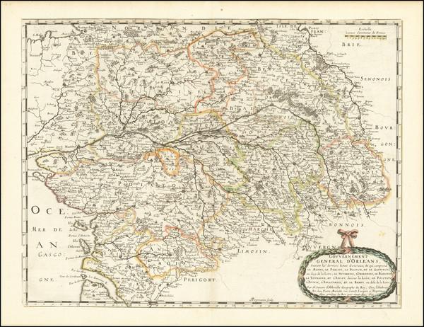 6-Grand Sud-Ouest and Centre et Pays de la Loire Map By Nicolas Sanson