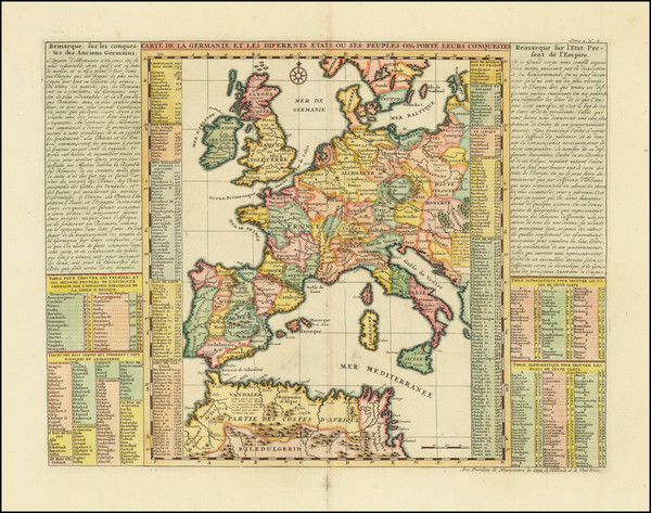 70-Europe and Germany Map By Henri Chatelain