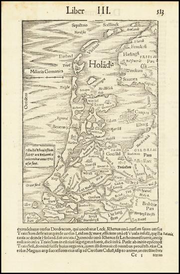36-Netherlands Map By Sebastian Munster