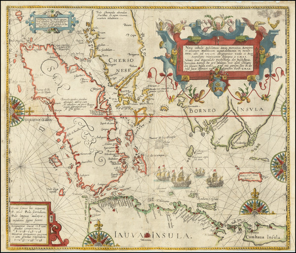99-Southeast Asia, Singapore, Indonesia and Other Islands Map By Theodor De Bry