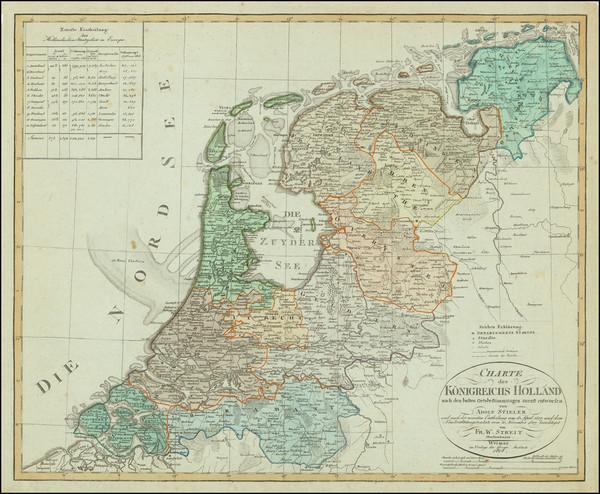 80-Netherlands Map By Adolf Stieler / F.W. Streit