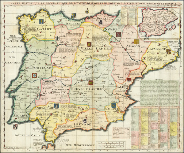 13-Spain and Portugal Map By Henri Chatelain