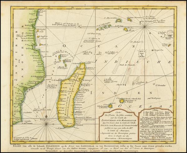 27-Indian Ocean Map By Pieter de Hondt / J.V. Schley
