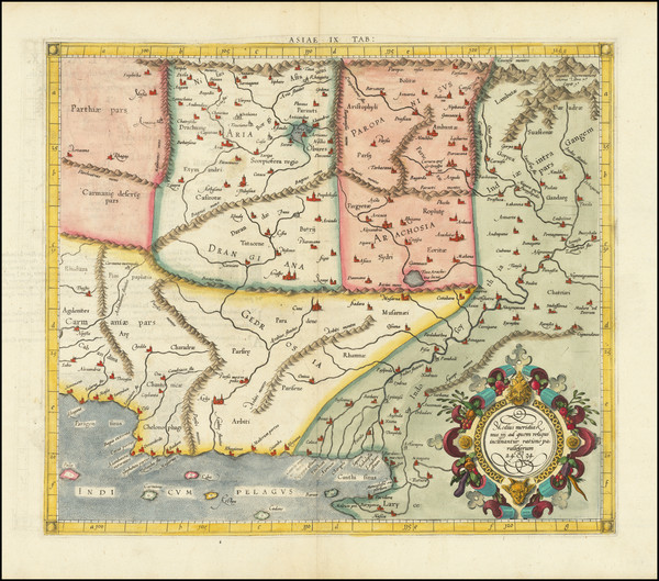 48-Central Asia & Caucasus and Pakistan Map By  Gerard Mercator