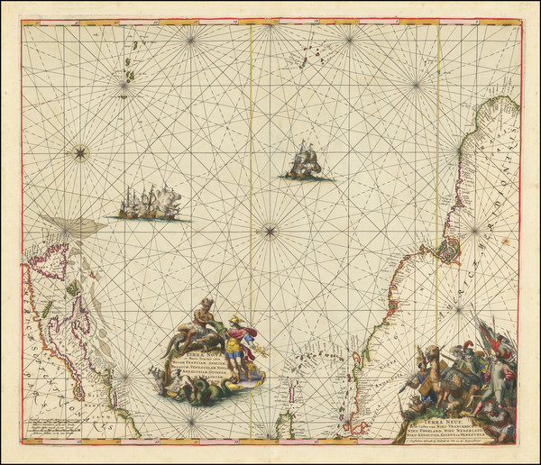 61-Atlantic Ocean, New England, Mid-Atlantic, Caribbean, Brazil and Canada Map By Frederick De Wit