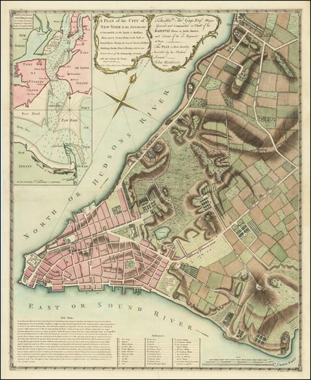 49-New York City Map By John Montresor