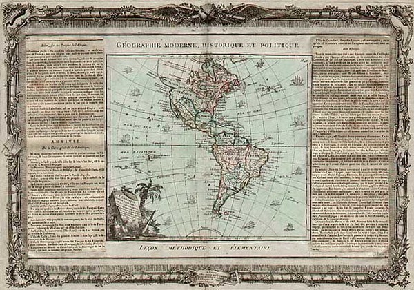 27-South America and America Map By Louis Brion de la Tour