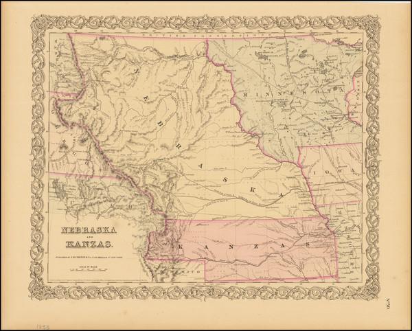 28-Plains, Kansas, Nebraska, Colorado, Rocky Mountains, Colorado and Montana Map By Joseph Hutchin