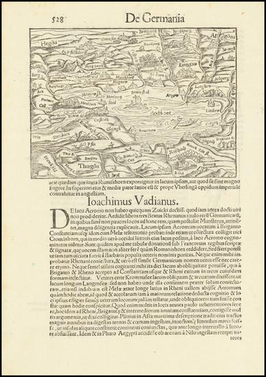 13-Switzerland and Süddeutschland Map By Sebastian Munster