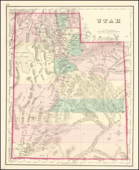 1-Utah and Utah Map By O.W. Gray