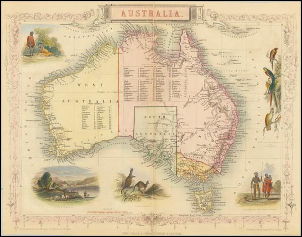 80-Australia Map By John Tallis