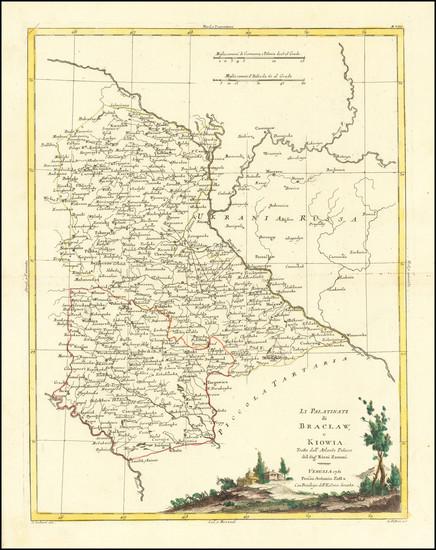 99-Poland and Ukraine Map By Antonio Zatta