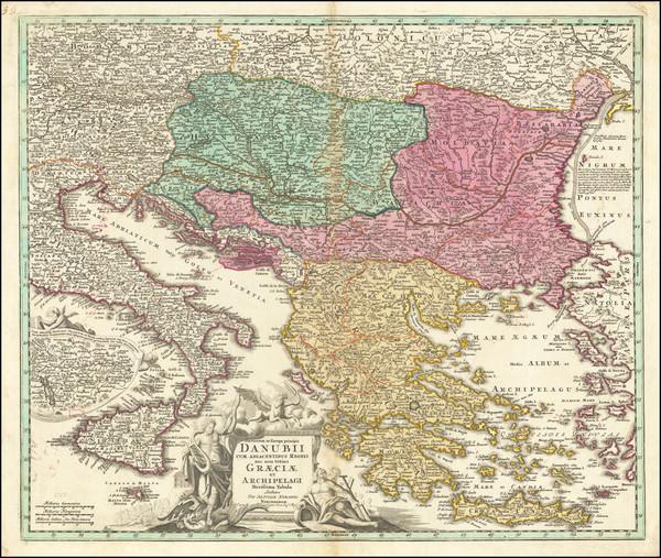 24-Romania, Balkans, Bulgaria and Greece Map By Johann Baptist Homann
