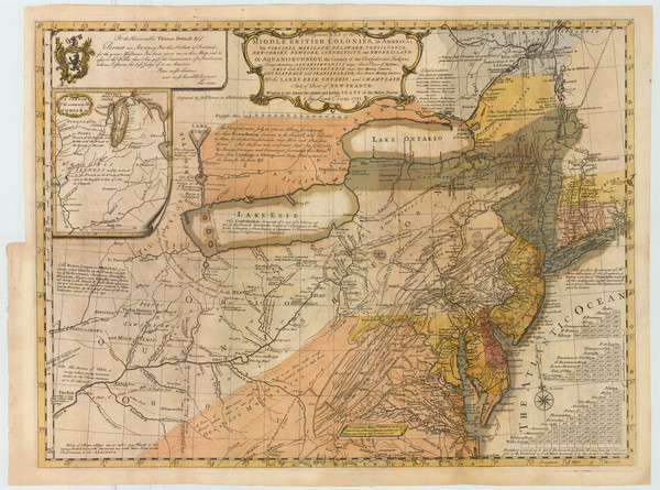 67-United States, Mid-Atlantic and Midwest Map By Lewis Evans