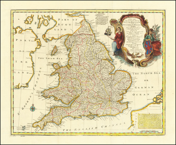29-England Map By Emanuel Bowen