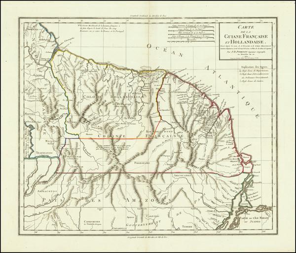 50-Guianas & Suriname Map By Jean Baptiste Poirson