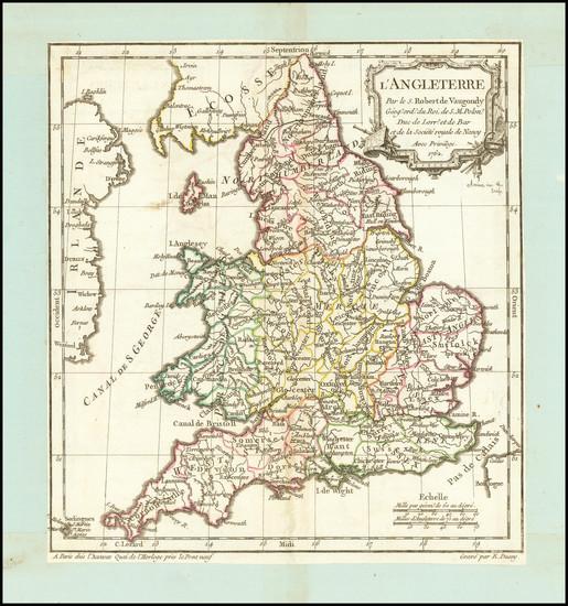93-England Map By Didier Robert de Vaugondy