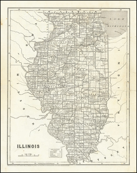 21-Illinois Map By Sidney Morse  &  Samuel Breese