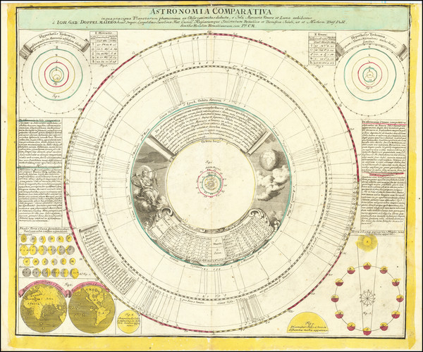 67-California as an Island and Celestial Maps Map By Johann Gabriele Doppelmayr