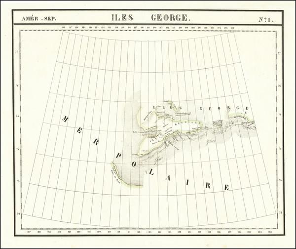 83-Western Canada Map By Philippe Marie Vandermaelen