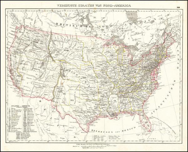 92-United States Map By Carl Flemming