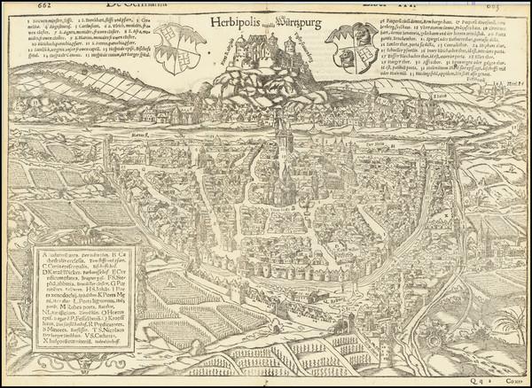 87-Süddeutschland Map By Sebastian Munster