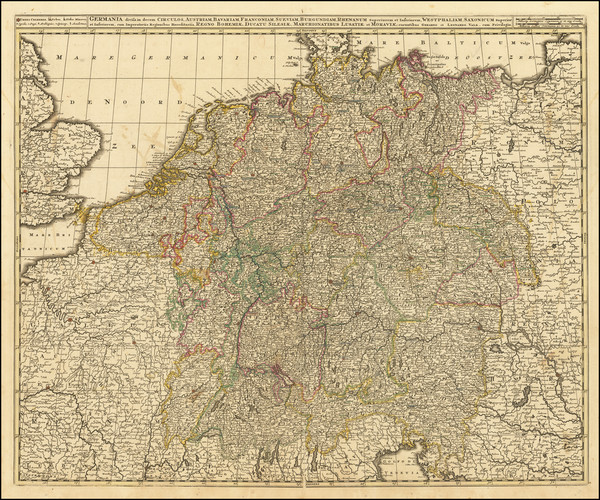 76-Austria, Poland, Czech Republic & Slovakia and Norddeutschland Map By Gerard & Leonard