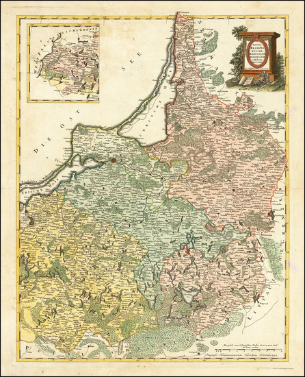 49-Poland and Baltic Countries Map By Franz Ludwig Gussefeld