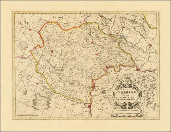 89-Netherlands Map By Valk & Schenk