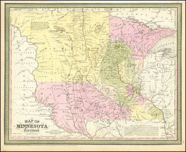 37-Minnesota, North Dakota and South Dakota Map By Cowperthwait, Desilver & Butler
