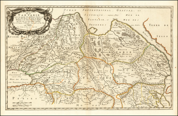 10-China, Central Asia & Caucasus and Russia in Asia Map By Nicolas Sanson