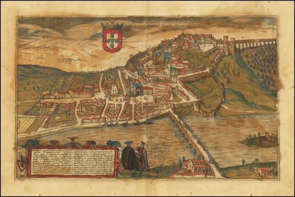 91-Portugal Map By Georg Braun  &  Frans Hogenberg