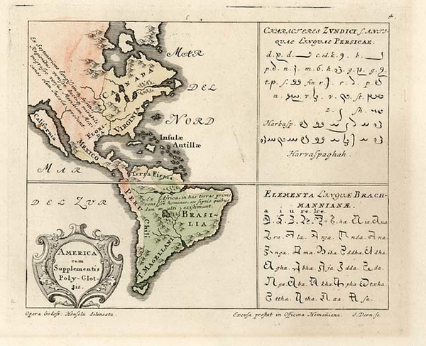 35-South America and America Map By Homann Heirs / Gottfried Hensel