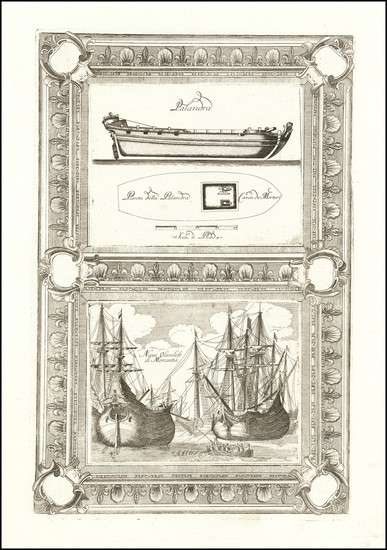43-Curiosities Map By Vincenzo Maria Coronelli