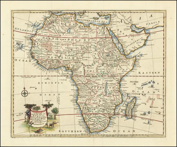 37-Africa Map By Emanuel Bowen