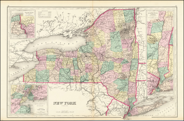 1-New York State Map By O.W. Gray