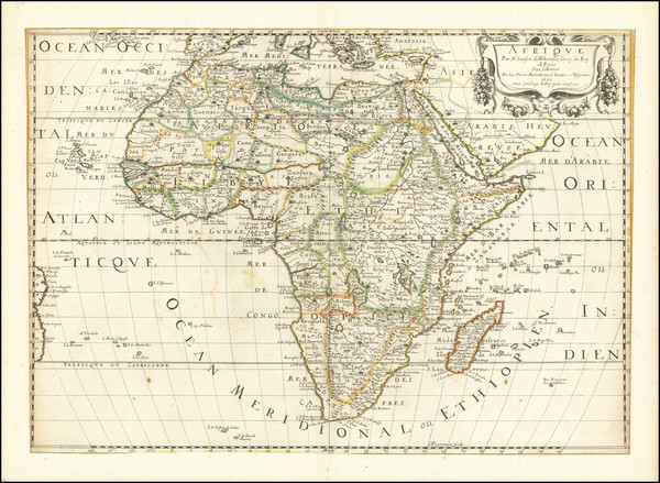 55-Africa Map By Nicolas Sanson