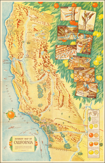 59-Pictorial Maps and California Map By Cal Rambeau
