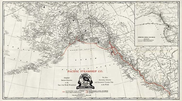 81-Alaska and Canada Map By Poole Brothers