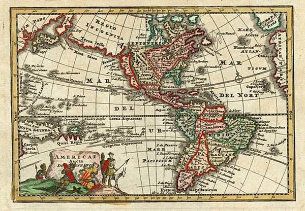 82-South America, Australia & Oceania, Australia, Oceania and America Map By Adam Friedrich Zu