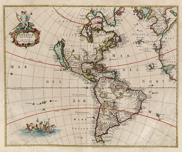 14-South America and America Map By Clement de Jonghe